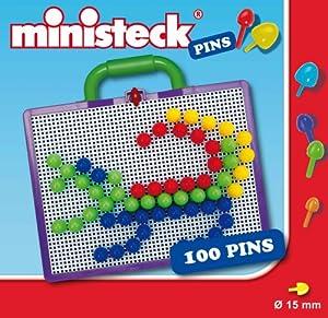 Ministeck 33701 - Maletín creativo con 100 piezas de 15 mm importado de Alemania