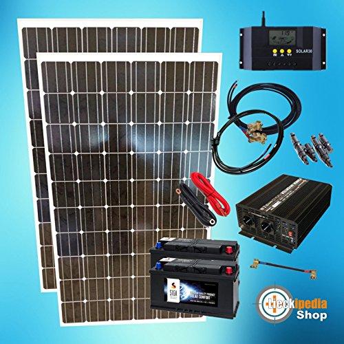 440 Watt Insel Solaranlage Photovoltaik-Komplett-SET für Camping und Garten