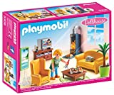 Playmobil- Living Room with Fireplace de Estar Sala de Estar con Fuego, Color (5308)