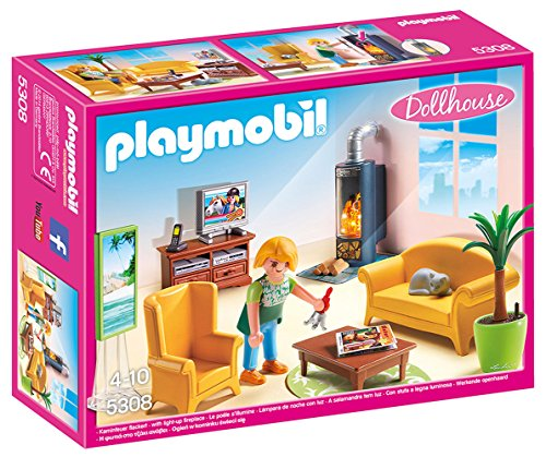 Playmobil- Living Room with Fireplace Estar Sala Estar
