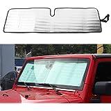 Windshield Sunshade Heat Shield Sun Visor Mat for Jeep Wrangler 2007-2017