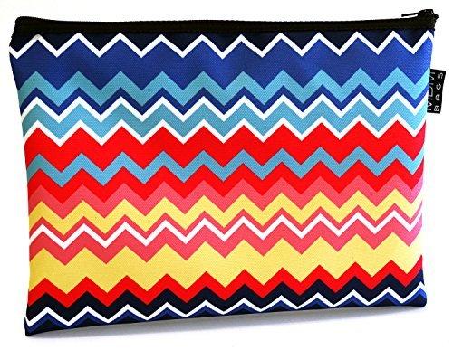 he mit Reißverschluss 35,6x 25,4cm Chevron Multicolor ()