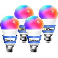 meross Lampadina Wifi Intelligente LED Dimmerabile Multicolore E27 9W Smart Light RGBCW Compatibile con Homekit…