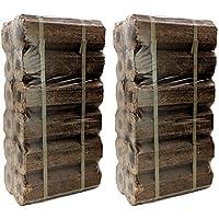 AMOS High Energy Ultra Dry Heat Logs Open Fire Eco Wood Log Fuel (24 Logs)