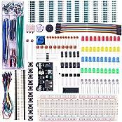 Elegoo - ÜBERARBEITETES Elektronik Lern- und Spass-Set mit Stromversorgungsmodul, Jumperkabeln, Präzisions-Potentiometer, Steckplatine mit 830 Verbindungspunkten und vielem mehr Für Arduino, Raspberry Pi, Banana Pi, STM32