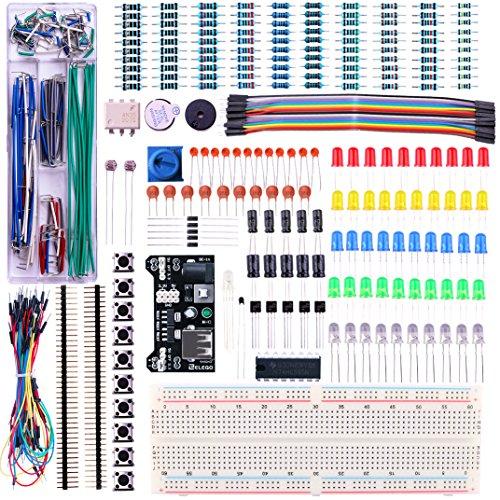elegoo-uberarbeitetes-elektronik-lern-und-spass-set-mit-stromversorgungsmodul-jumperkabeln-prazision