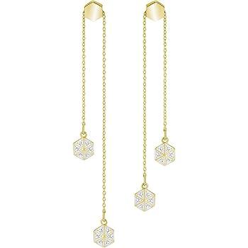 66915df60 Swarovski Women Gold Plated Dangle & Drop Earrings - 5380106: Amazon ...