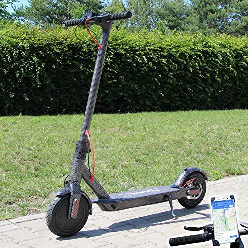 Smartway Elektro Scooter 500 Watt E-Scooter mit APP & Bluetooth Elektroroller Faltbar Roller Aluminium EScooter (Carbon)