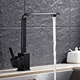 5151BUYWORLD alta qualità rubinetto di lusso in ottone massiccio cucina rubinetto lavabo con miscelatore bronzo nero Kitchen Water Faucetfor bagno cucina casa Gaden