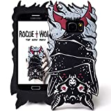 Rogue + Wolf Mignon 3D Vamp Bat Coque de Téléphone Compatible avec S6 S7 S6 Edge Galaxy Kawaii Silicone Phone Case Protection