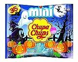 Chupa Chups Halloween Mini Lutscher, 8x35er Beutel Lollis, Geschmacksrichtung Orange + Erdbeere + Apfel + Kirsche + Cola