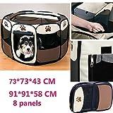Tenda box per cagnolini cuccioli e piccoli animali rosso,Recinto per cuccioli - Grande recinto per...