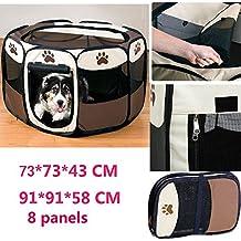 Parque Mascota de Juego Entrenamiento Dormitorio Conejo Octágono Plegable Lavable Durable (91*91*