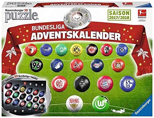 Ravensburger 11695 - Adventskalender Bundesliga 3D Puzzle - 3 Regal-große Tabelle