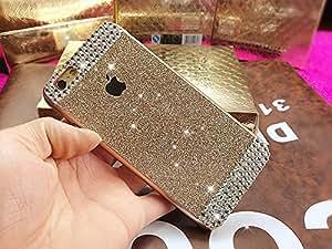 Coque iPhone 6 Plus, Extreme Deluxe Bling Etui Housse téléphone couverture de diamant main Crystal Clear Rhinestone de protection de peau Case Cover pour Apple iPhone 6 Plus 5,5 pouce écran - Gold