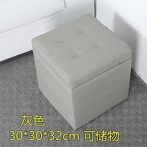 Scarpe eleganti e cuoio attuazione Attuazione sedia bassa ammettere attuazione in vero legno di implementazione di storage divano Poggiapiedi Creative 30 il poggiapiedi grigio