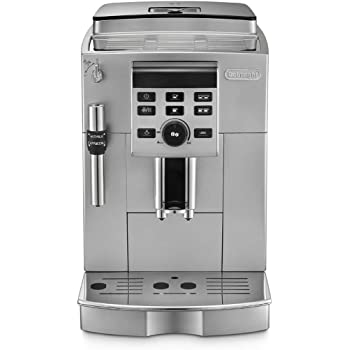 DeLonghi ECAM 23.120SB freistehend halbautomatisch Maschine Espresso 1.8L 2Tassen schwarz, silber–(freistehend, Maschine Espresso Kaffeemaschine, schwarz, silber, 1,8l, 2Tassen, Kaffeebohnen, gemahlener Kaffee)