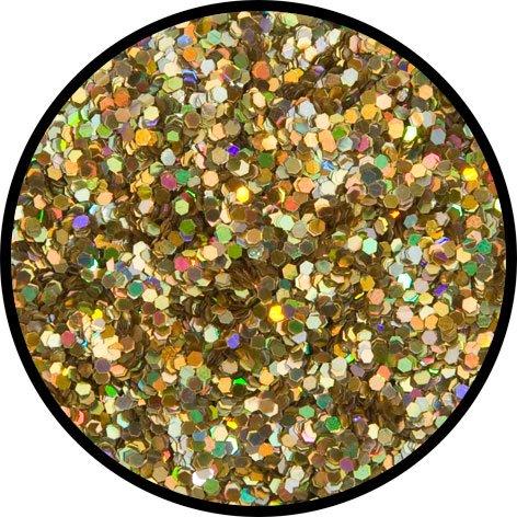 Eulenspiegel Profi-Schminkfarben GmbH Búho Espejo-Oro de JUWEL (Grueso)-Glitter Confeti