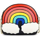 UStyle Umhängetasche, Regenbogen-Form, für Damen, Mädchen, niedlich, Einkaufstasche, abnehmbarer Kettenriemen