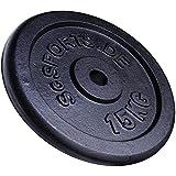 15 kg Hantelscheibe Gusseisen ScSPORTS Gewicht Guss 30/31 mm Lochdurchmesser Bohrung