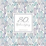 80. Geburtstag Gästebuch: zum Eintragen für Gäste - 110 Seiten - Muster Pastell