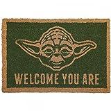 Star Wars - Yoda - Fußmatte - Offizielles Merchandise | Türmatte aus Kokos und Kunststoff in Schwarz