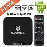 4K Android TV Box Maxesla MAX-S II Android 7.1 Smart TV Box, 2 GB DDR3 + 16 GB EMMC, Quad Core CPU Amlogic S905X, 4K×2K...