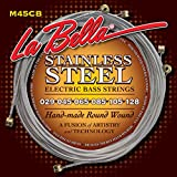 La Bella M45CB 6-String, 029/128, Saiten für 6-Saiter E-Bass, Stainless Steel
