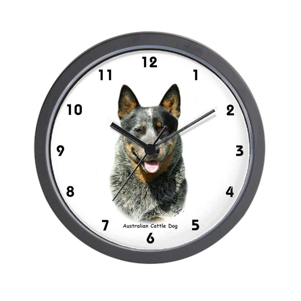 CafePress – Australian Cattle Dog 9F061D-03 – Unique Decorative 10″ Wall Clock