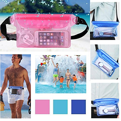 Coolster Sport Schwimmen Laufen Radfahren Strand Wasserdichte Taille Gürtel Tasche Artikel Trockene Halter Strap Beutel Schwarz