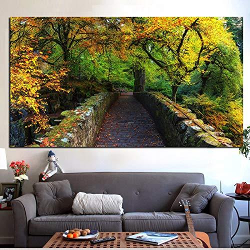 Mode stil druck 3D poster natur herbst landschaft modernes ölgemälde auf leinwand kunst wandbild für wohnzimmer dekoration (kein rahmen) A1 30x40 CM