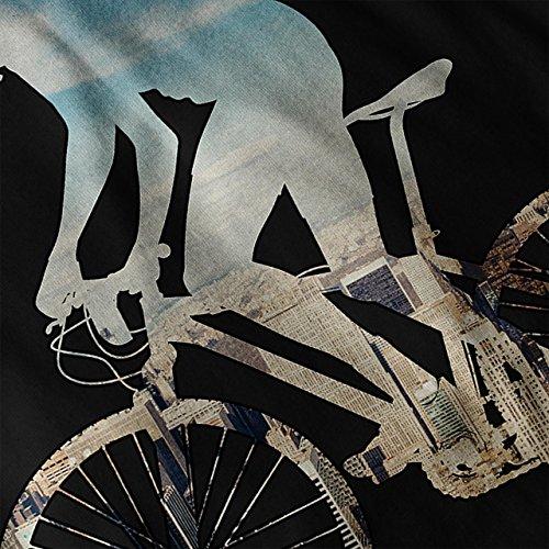 Reiten mich Fahrrad Sport Motorradfahrer Aktion Fahrrad Damen Schwarz S-2XL Muskelshirt | Wellcoda Schwarz