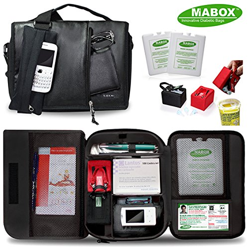 Diabetikertasche Mabox Tasche für Diabetiker, Reisetasche für Diabetiker, Insulintasche, Reisebox für Insulin, Diabetiker (Diabetiker-taschen)