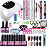 Saint-Acior Gellack UV Gel Set Gelnägel Nageldesign UV Gel Set Nail Gel Polish 24w UV LED Lampe UV Nagellack Nagelset