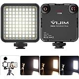 VIJIM 81 Luz de Video LED Temperatura de color Luz de Cámara Ajustable Luz de Fotografía + 3200k-5600k CRI95 para iPhone DJI