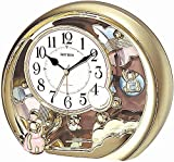 Rhythm Gold Round Contemporary Motion Cl...