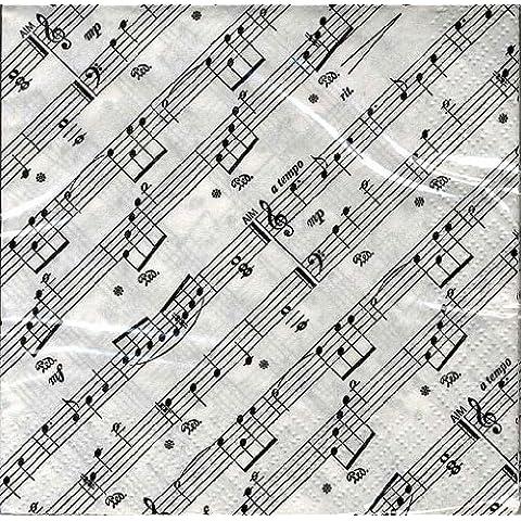 Napkins: 20servilletas a bebida en papel doble espesor diseño ejes musicales
