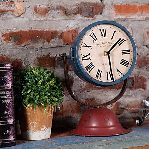 CNBBGJ Retro à faire l'ancien bar Fer à Repasser réveil, réveil créatif antique de modélisation de la rue, d'objets de décoration intérieure, décoration personnalisée,,B