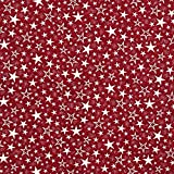 Fabulous Fabrics Weihnachtsstoff Jaquard Sternenhimmel –