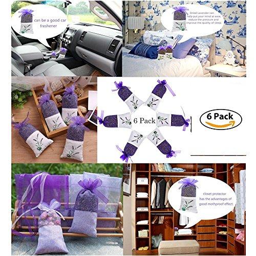 Beste Natürliche Deodorant (DouTree 2018 Lavendel-Beutel-Taschen, purpurrote organische getrocknete Lavendel-Knospen für Hauptduft, natürliches Deodorant, Motten-Abwehrmittel)