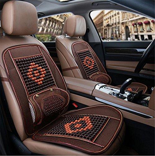 LSQR Sommer Holzperlen Lendenkissen Autositz Vier Jahreszeiten Cool Pad Massage Eis Seide Atmungsaktive Pad Car Supplies,Winered2