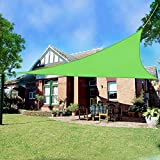 Greenbay Triangle Anti-UV Sun Shade Sail Outdoor Patio Party Sunscreen Canopy Sunsail 3.6x3.6x3.6m Light Green