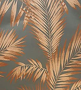 palme tapete tropical luxus gewicht vintage metallic grau. Black Bedroom Furniture Sets. Home Design Ideas