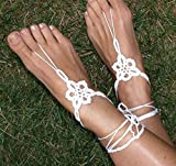 Best Star Shoe Trees - Hope Tree White Star Flower Crochet Barefoot Sandals Review