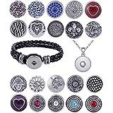 Morella® Damen Starter-Set mit 20 Click-Buttons, Armband und Halskette