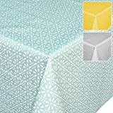 Hule, mantel, lavable, Retro Uni Trend, toalla, Meergrün Minze, 100 x 140cm