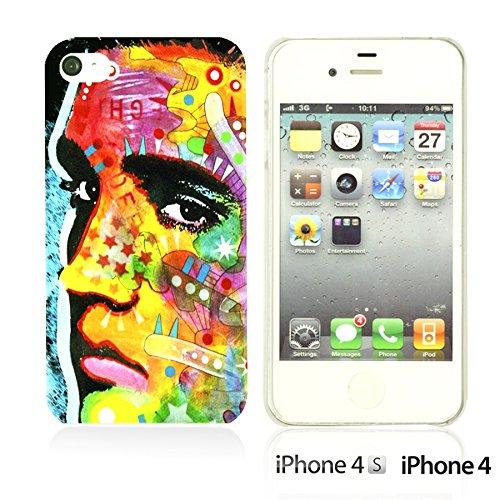 OBiDi - Celebrity Star Hard Back Case / Housse pour Apple iPhone 4S / Apple iPhone 4 - Marvin Gaye Elvis Presley Pop Art