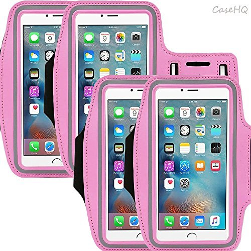 Universal Sportarmband für Apple iPhone 7/7 Plus iPhone 6/6S Plus Samsung Galaxy S7/S6/S5 Schweiß-Running Armbelt mit kleinen Halter & Tasche für Schlüssel Karte 4,5 \'14,5 cm Bildschirm