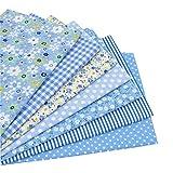 7 Stück 49cm * 49cm Blau Baumwollstoff,patchwork