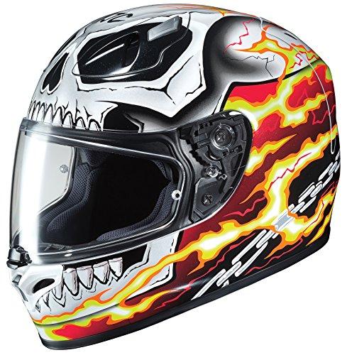 HJC Helme Unisex full-face-helmet-style Ghost Rider Motorrad Helm (weiß/rot, XXL) Ghost Rider Motorrad